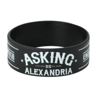 Asking Alexandria From Death To Destiny Rubber Bracelet
