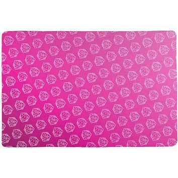 D20 Gamer Critical Hit and Fumble Pink Pattern All Over Game Dice Mat