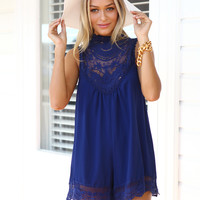 DREAM CATCHER PLAYSUIT NAVY BLUE