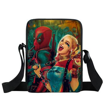 Suicide Squad Crossbody Bags Harley Quinn Joker Handbags Women Messenger Bag Shoulder Bags For Teenager Children School Bag