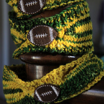 NFL Green Bay Packers Knit Headbands with Football Applique