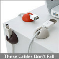 ThinkGeek :: CableDrop Cable Clips