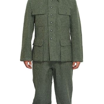 WWII WW2 GERMAN M36 EM WOOL FIELD MILITARY UNIFORM SET TUNIC & TROUSERS IN SIZES