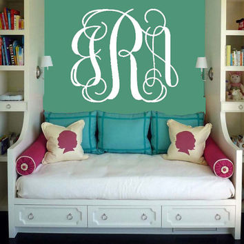 Monogram Wall Decal | Initial Wall Decal | Nursery Decal