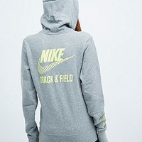 Nike Track and Field Hazard Hoodie in Grey - Urban Outfitters