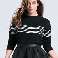 Fine Lines Placed Stripe Sweater
