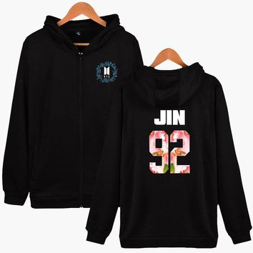 KPOP BTS Bangtan Boys Army  Hoodie Zipper Winter Fashion Women  Hoodie Zipper Size XXS To 4XL  JIN RAPMONSTER J-HOPE SUGA V JIMIN JUNGKOOK AT_89_10