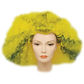 Afro Pulled Out Yellow-Bu-Bk Wig