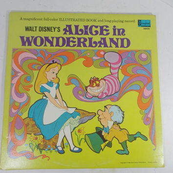 Disney storybook record Alice in wonderland(1969)LP