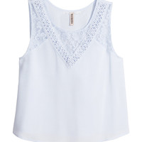 H&M - Lace Top - Blue - Ladies