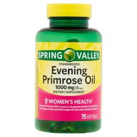 Spring Valley Women's Health Evening Primrose Oil Softgels, 1000 mg, 75 Ct - Walmart.com