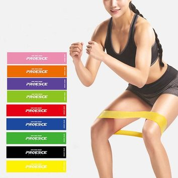 Set of 9 Heavy Duty Resistance Band Loop Exercise Yoga Workout Power Gym Fitness