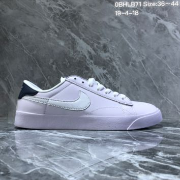 hcxx N1248 Nike Tennis Classic Leather Low Skate Shoes White Black