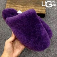 UGG sells fashionable women's velvet-covered wool slippers and sandals #7