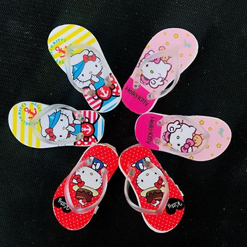 2pcs /Pack Kawaii Hello Kitty Flip Flops Rubber Eraser School Office Supply Drawing Writing Correction Stationery Student Gift