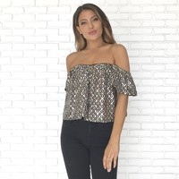My Time To Shine Off Shoulder Crop Top