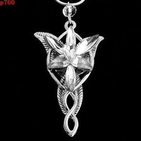 TR00 NEW vintage ARWEN'S EVENSTAR NECKLACE LORD OF THE RINGS SILVER pendant TR8