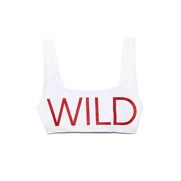 Wildfox Crop Tank - White