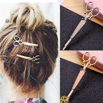 New 2017 Ali Bijoux Tiara Bridal Hairwear Scissors Hairpins Hair Band Headband