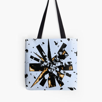 'Double Star. Collage.' Tote Bag by SpieklyArt