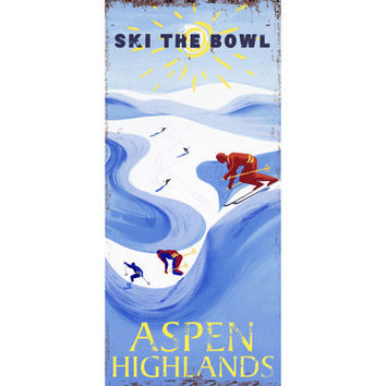 Personalized Ski Aspen Wood Sign