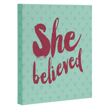Allyson Johnson She Believed Art Canvas