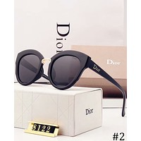 DIOR 2018 new women's polarized round face retro sunglasses #2