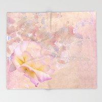 You are the Rose Throw Blanket by anipani