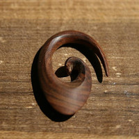 Handcarved Wooden Gauge for stretched ear lobes (4g, 0,197inch, 5mm)