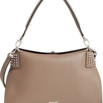 a3b183690d0d14 Michael Kors 'Miranda' Studded Leather Shoulder Bag | Nordstrom