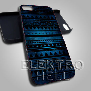 Aztec Blue Galaxy Pattern - iPhone 4/4s/5 Case - Samsung Galaxy S3/S4 Case - Black or White