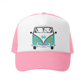 Pink Busin' Daisy Trucker Hat