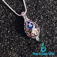 Sterling Silver Laced Locket Pendant & Necklace