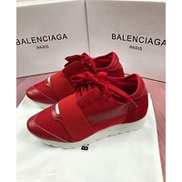 BALENCIAGA Fashion Women Men Casual Shoes Red(White Sole) I-OMDP-GD