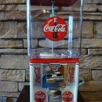 Fully restored, Coca Cola - Coke theme Vintage Northwestern Gumball, Hard Candy, and Peanut vending machine.