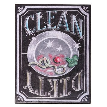 "Magnetic Clean Dirty 4"" x 3"" Dishwasher Sign"