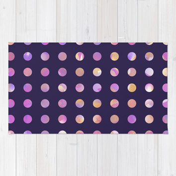 Watercolor Polka Dots Rug by KJ53321