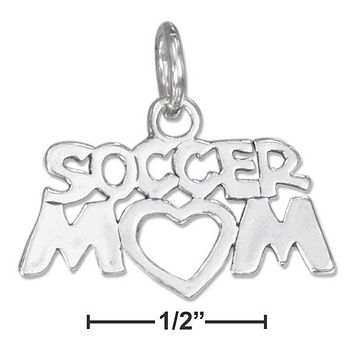 "STERLING SILVER ""SOCCER MOM"" CHARM"
