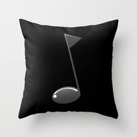 Musical note Throw Pillow by Tony Vazquez
