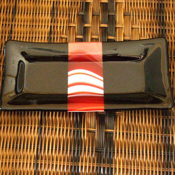 Valet, Sushi, Candy or Nut Dish, Fused Glass Hostess Gift