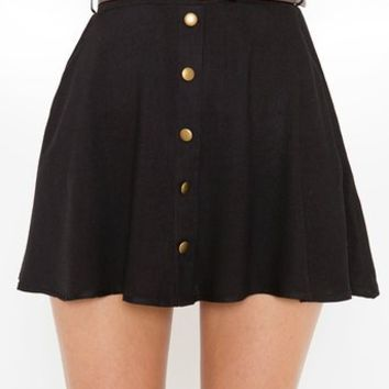 Sedona Belted Skirt - Black