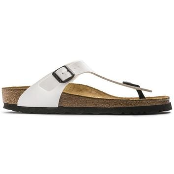 Birkenstock Gizeh Birko Flor Patent Patent White 543761 Sandals - Ready Stock