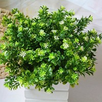 A Bunch of Small Green Leaf Plant Artificial Flower