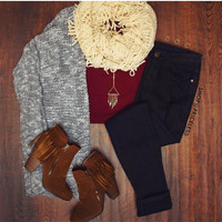 Rowan Top - Burgundy