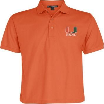 Miami Hurricanes Orange Marching Band Polo Shirt