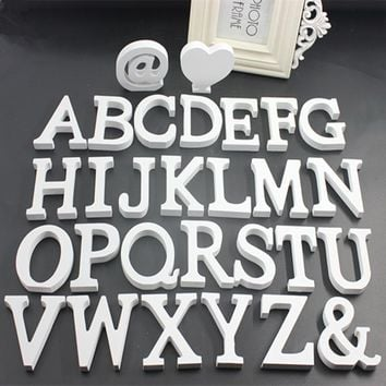 1PCS Home Decoration Wood Wooden Letter Alphabet Word Free Standing  DIY Craft Home Wedding Party Birthday Decoration A to Z