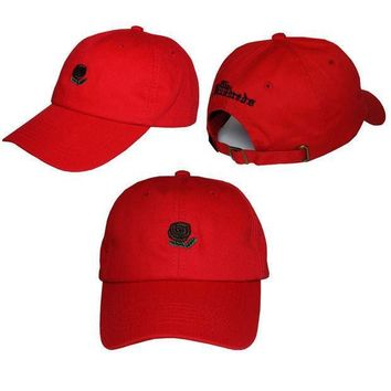 ONETOW Day-First? Red The Hundreds Rose Strap Cap Adjustable Golf Snapback Baseball Hat