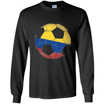 Colombia Soccer Ball Flag Jersey Shirt Colombian Football