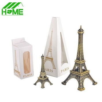 Paris Eiffel Tower Model Bronze Tone Decorative Furnishing Articles Decoration Vintage Craft Mold Figurine Statue Home Decor