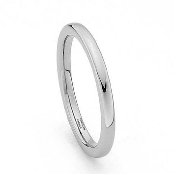 2mm Tungsten Wedding Band (Platinum)